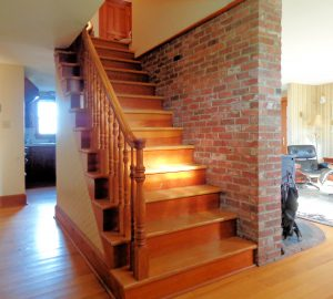 stairway and brick heat sink